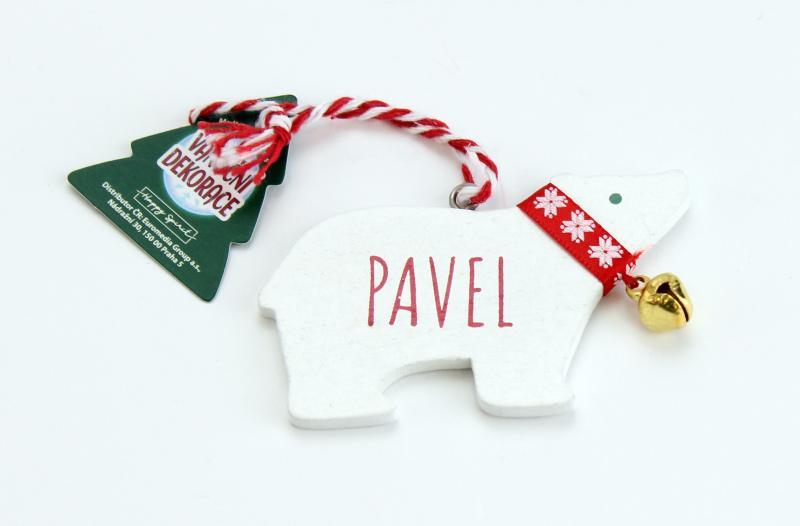 Vánoční dekorace lední medvěd PAVEL