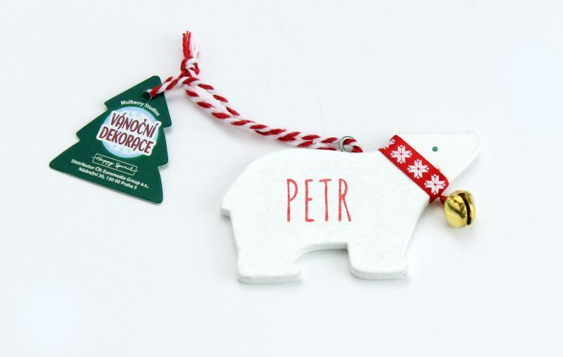 Vánoční dekorace lední medvěd PETR