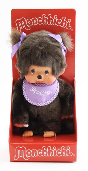 Monchhichi 20cm - holka fialová (Mončiči)