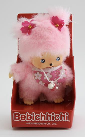 Monchhichi 15cm - růžová holka (Mončiči)