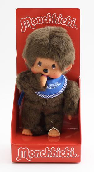 Monchhichi 20cm - kluk modrý bryndáček(Mončiči)