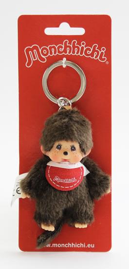 Monchhichi klíčenka - kluk červený bryndáček (Mončiči)