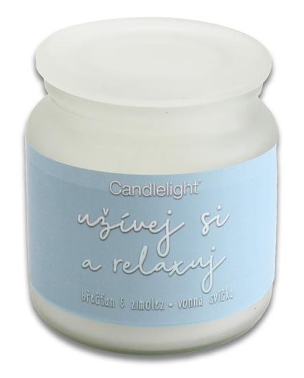 Svíčka Břečťan & zimolez  - Relaxuj-Candlelight svíčky a doplňky