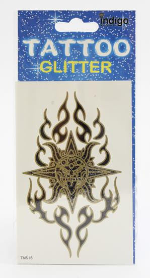 Tetování Zlatočerný symbol s ornamentem