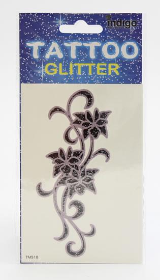 Tetování Fialovočerné květy s ornamenty