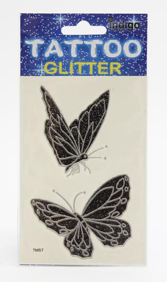 Tetování Dva černostříbrní motýli