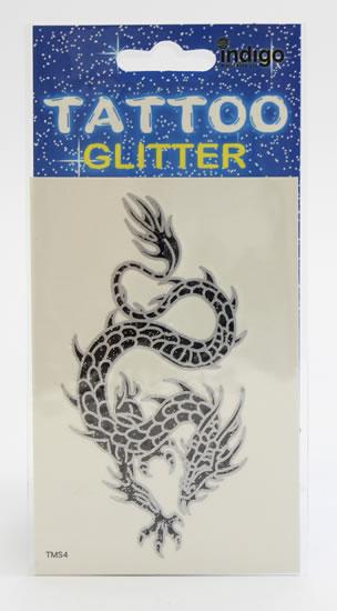 Tetování Černostříbrný drak