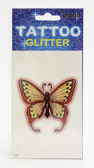 Tetování Žlutý motýl s červeným obrysem