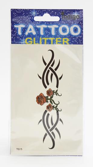 Tetování Tři růže s ornamentem
