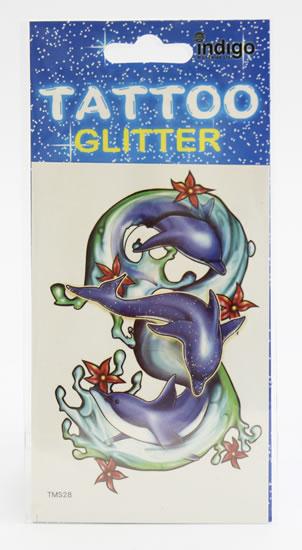 Tetování Tři delfíni s kytičkami