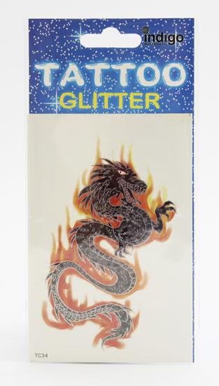 Tetování Tmavý drak s ohněm
