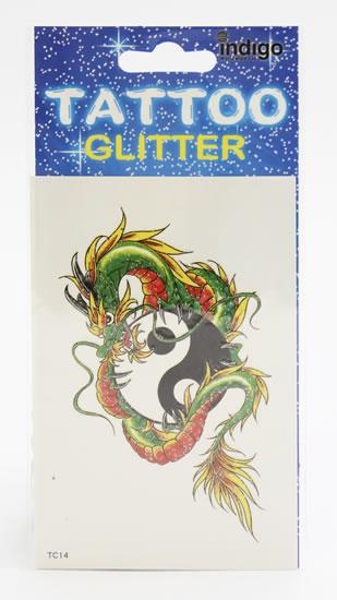 Tetování Zelený drak jin a jang