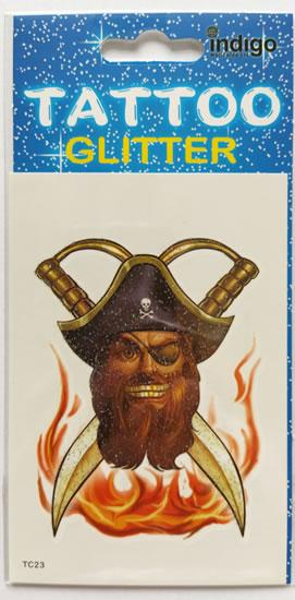 Tetování Pirát a dvě šavle