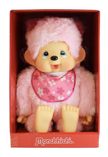 Monchhichi 80cm - růžová holka (Mončiči)