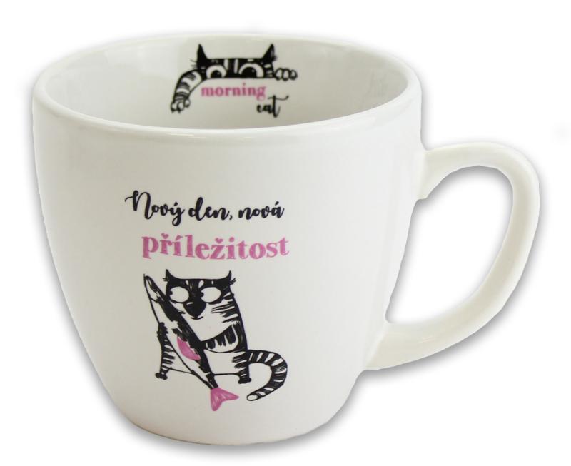 Hrnek Kočka s rybou - Hrnky Morning Cat