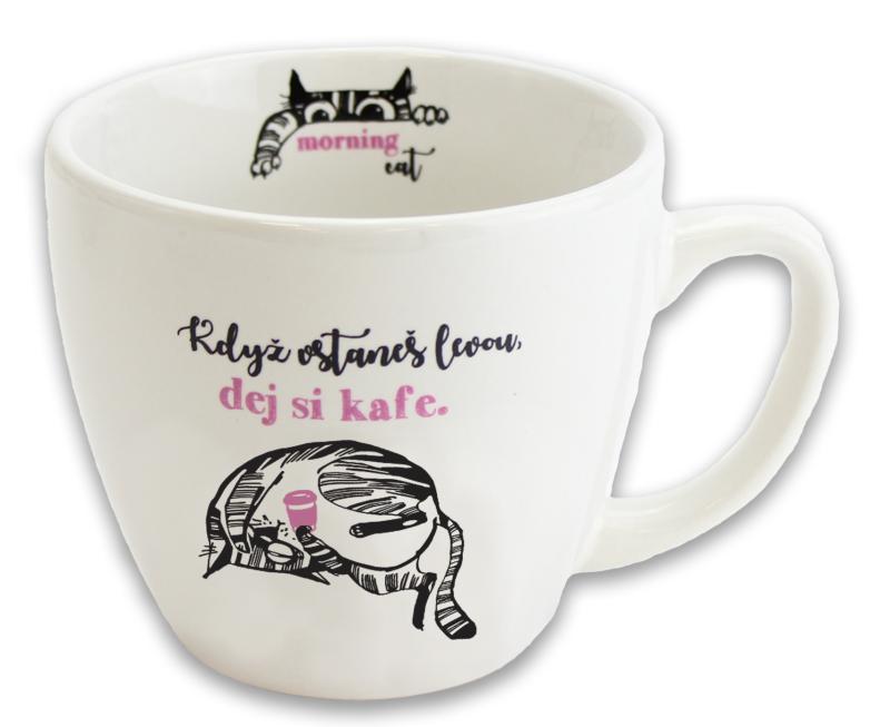 Hrnek Kočka s kávou - Hrnky Morning Cat