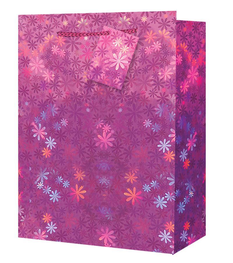 Taška medium Holografická růžová - Dárkové tašky