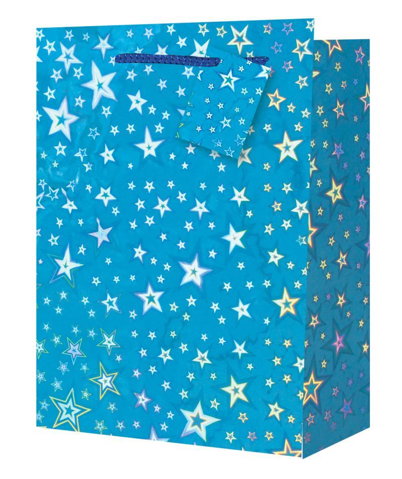 Taška medium Holografická modrá - Dárkové tašky