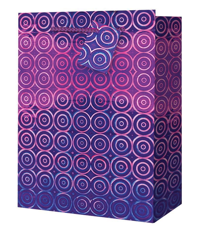 Taška medium Holografická fialová - Dárkové tašky