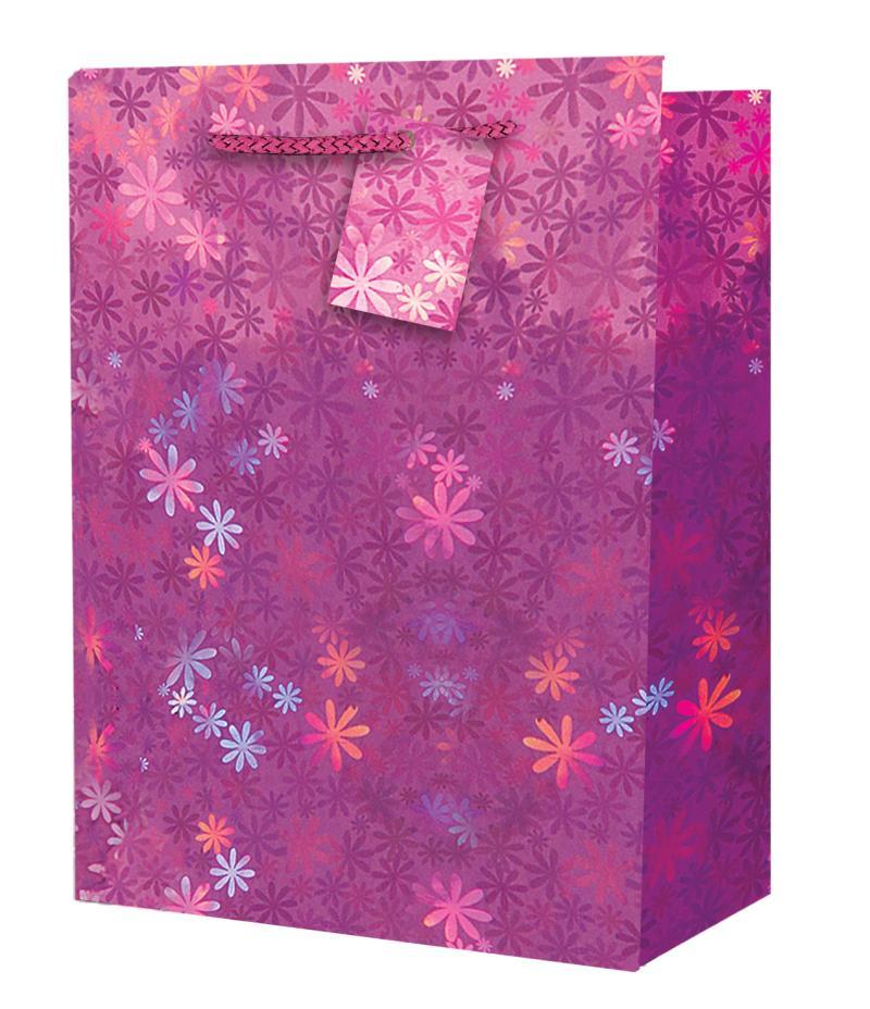 Taška large Holografická růžová - Dárkové tašky