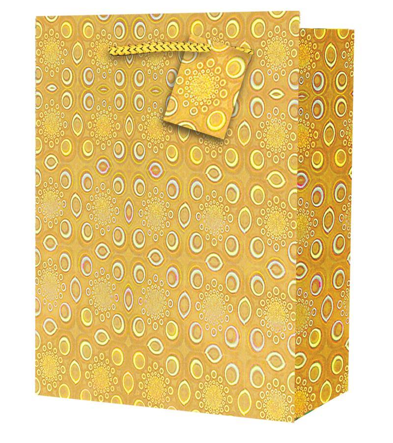 Taška large Holografická žlutá - Dárkové tašky