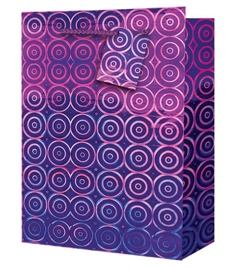 Taška large Holografická fialová - Dárkové tašky