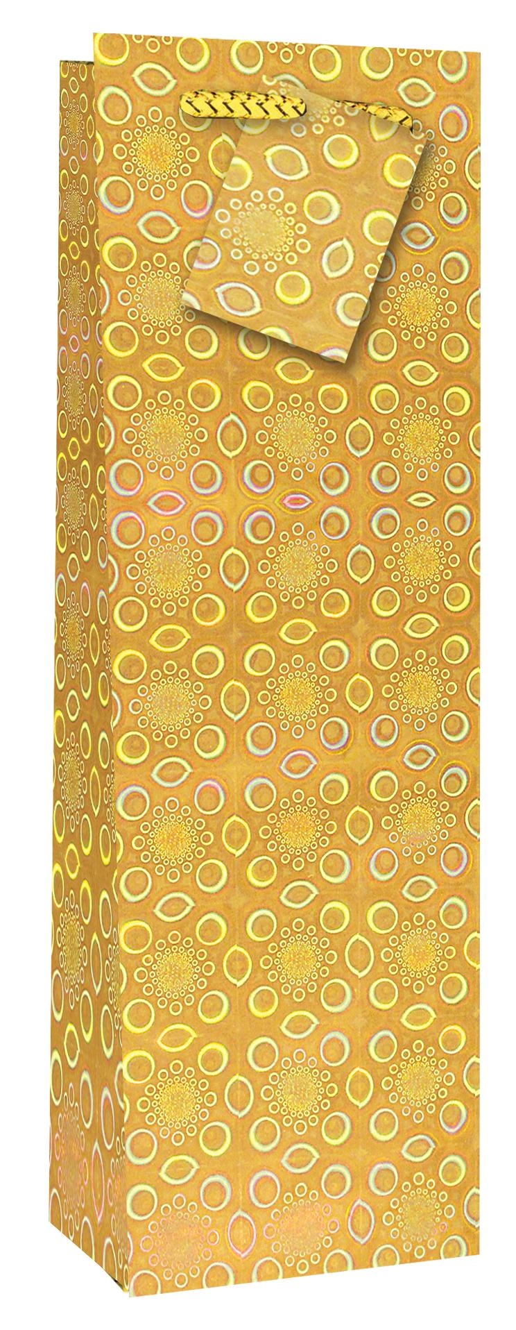 Taška lahev Holografická žlutá - Dárkové tašky