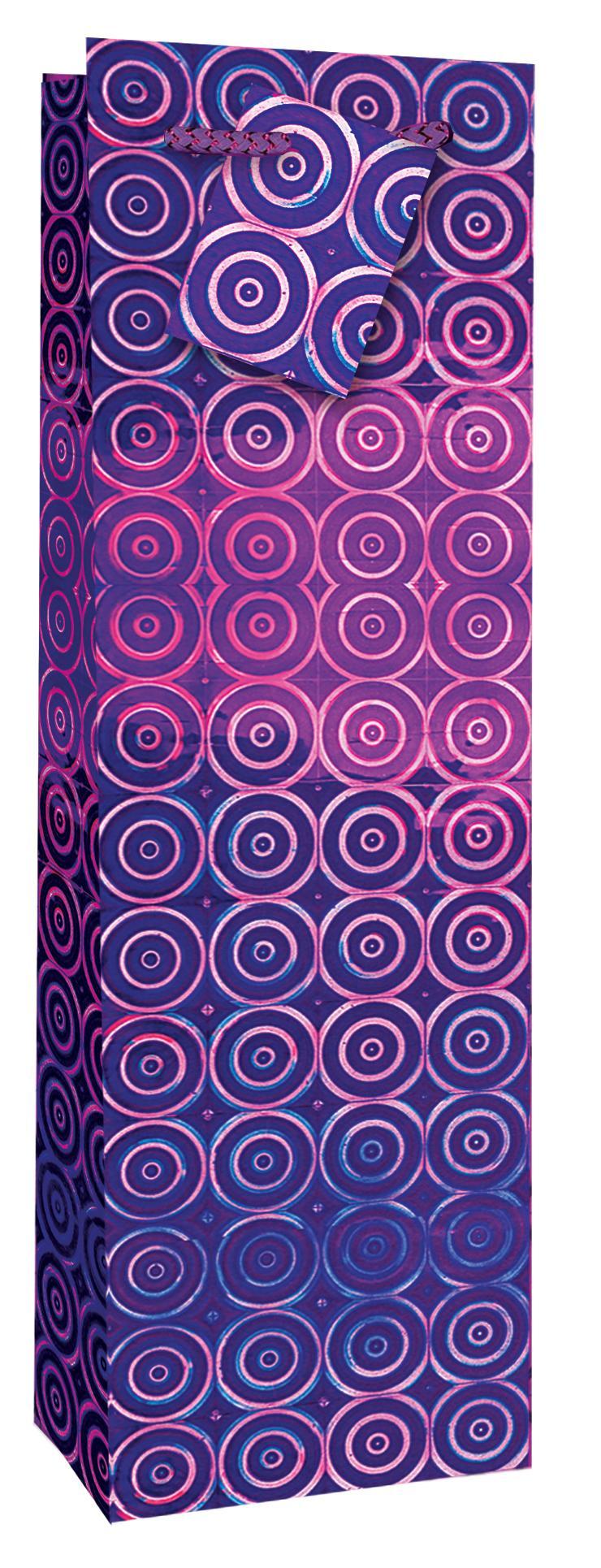 Taška lahev Holografická fialová - Dárkové tašky