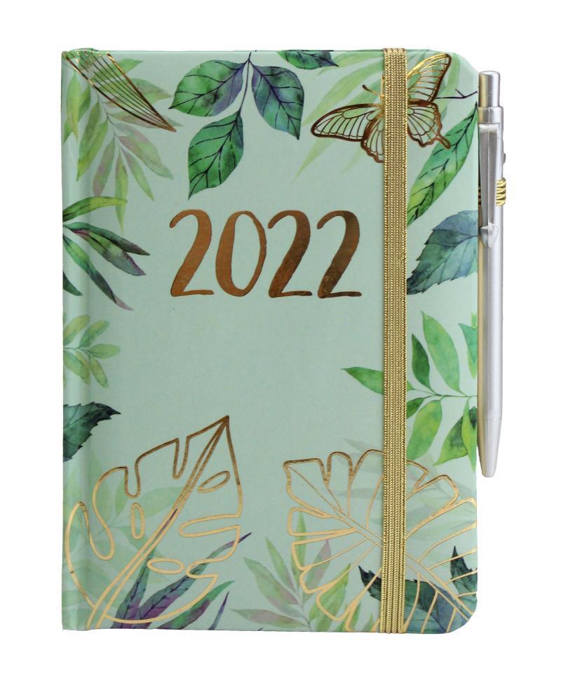 Diář 2022: Zelené listy/ SMART - Designové diáře 2022