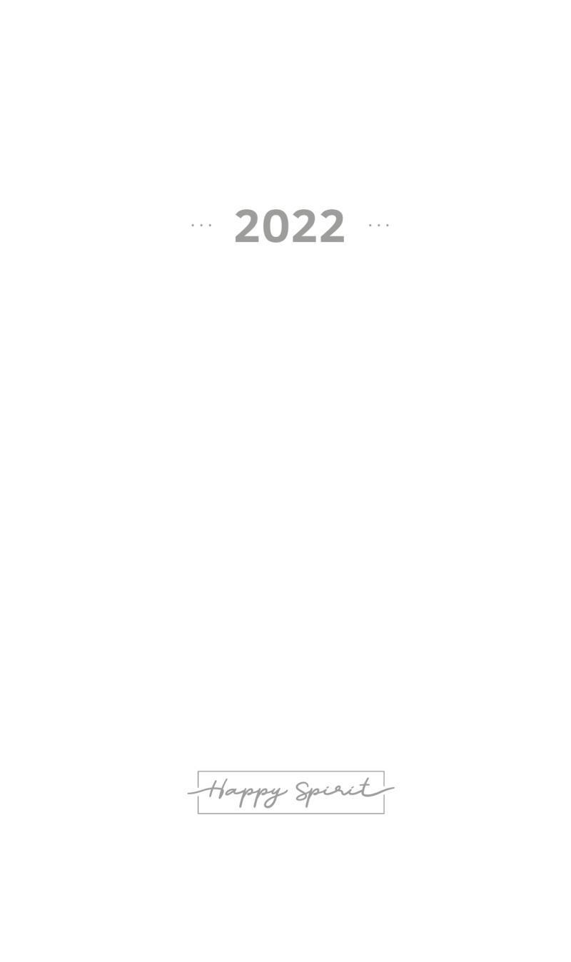 Kalendárium 2022 do diáře UNI M - Designové diáře 2022