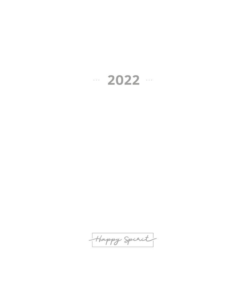 Kalendárium 2022 do diáře UNI S - Designové diáře 2022