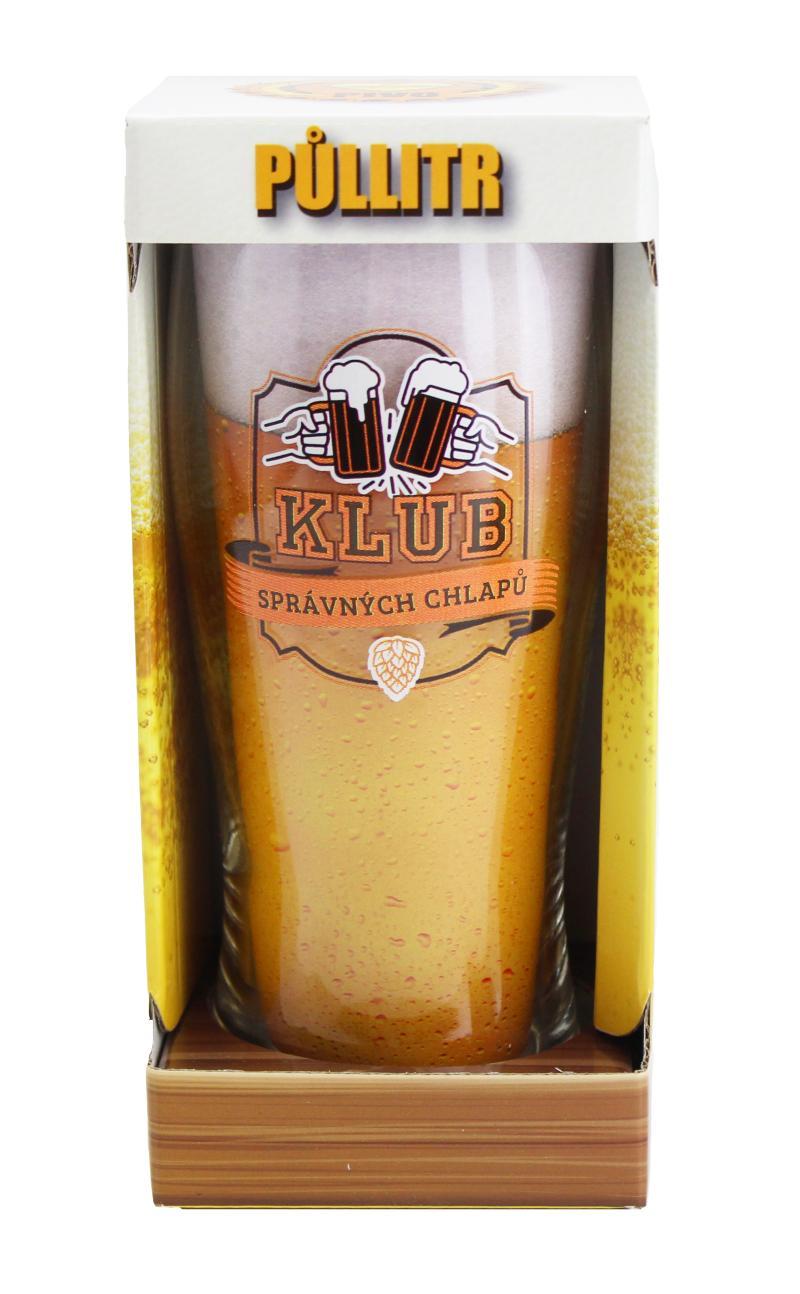 Půllitr Klub správných chlapů - Máme rádi pivo