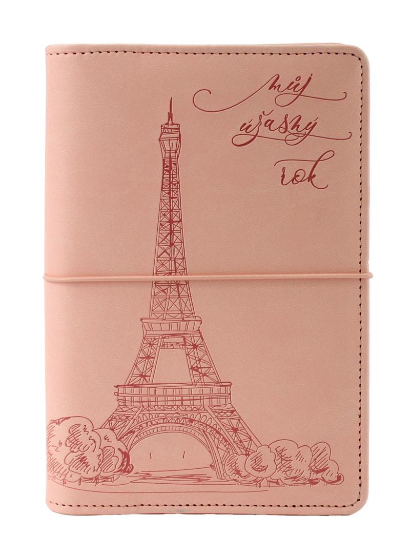Diář UNI Eiffelovka kroužkový M s vyměnitelným kalendáriem 2022 - Designové diáře 2022
