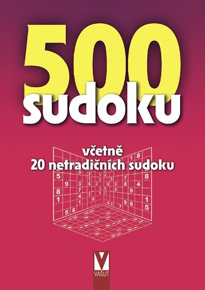 500 SUDOKU — ČERVENÁ OBÁLKA