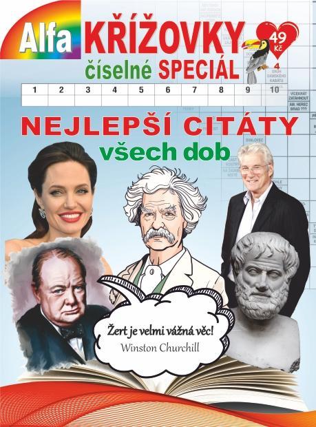 KŘÍŽOVKY ČÍSELNÉ SPECIÁL 4/2020 NEJLEPŠÍ CITÁTY