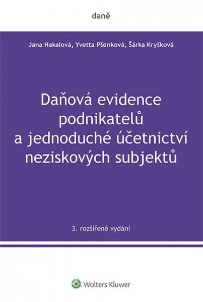 DAŇOVÁ EVIDENCE PODNIKATELŮ A JÚ NEZISKOVÝCH SUBJEKTŮ