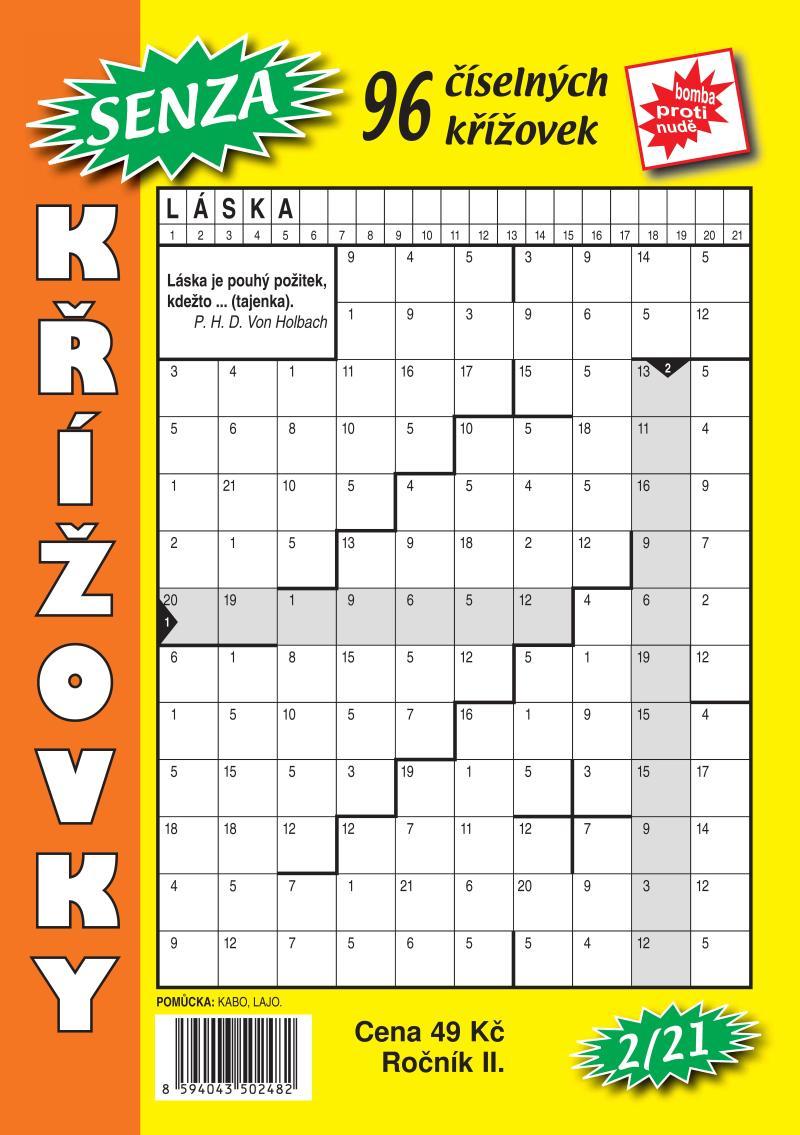 SENZA ČÍSELNÉ KŘÍŽOVKY 2/21