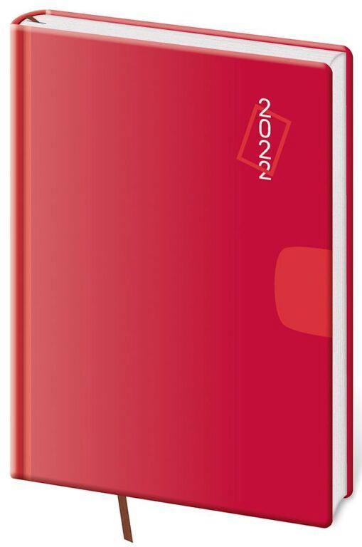 DIÁŘ 2022 DENNÍ A5 VARIO RED/HELMA