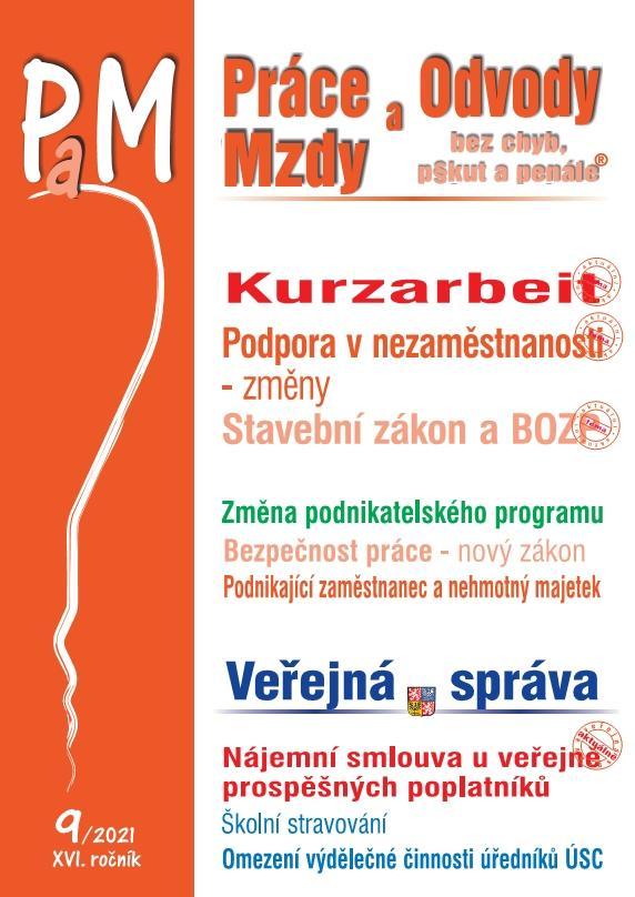 PRÁCE A OVODY MZDY KURZARBEIT 9/2021