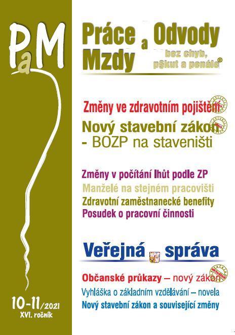 PAM PRÁCE, ODVODY, MZDY 10-11/2021